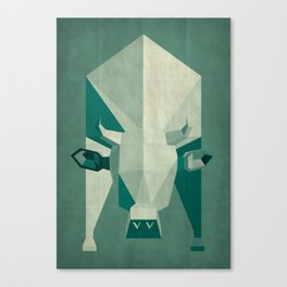 Picasso style abstract cow Canvas Print