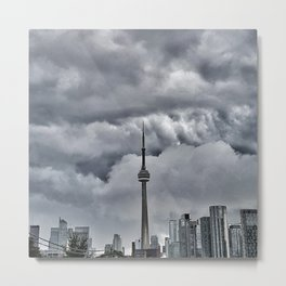 CN Tower Storm is coming  The 6ix Metal Print