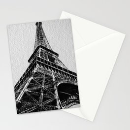 The Eiffel Tower, Paris BW Stationery Cards