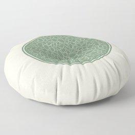 Organic 2  - Green Floor Pillow
