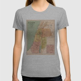 Map of Palestine in the Time of Christ (to 70 A.D.) T-shirt