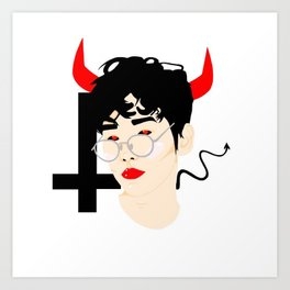 Demon Baekhyun Art Print