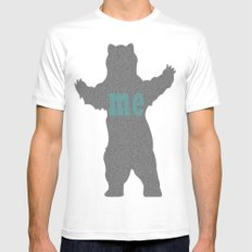 bear me MEDIUM Mens Fitted Tee White