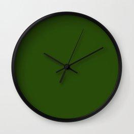 Tread Lightly ~ Forest Green Wall Clock