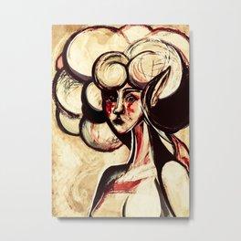 Wartorn Girl Metal Print