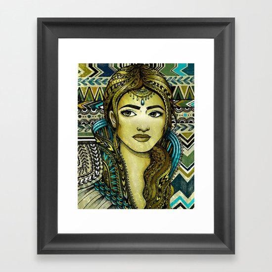 Golden Girl Framed Art Print