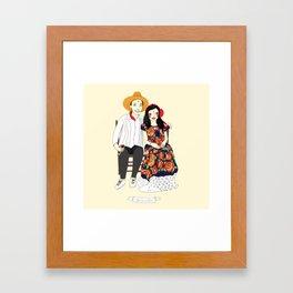 Male and Matt Framed Art Print