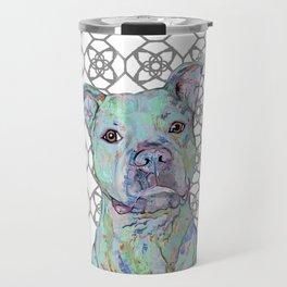 Staffy Portrait Travel Mug