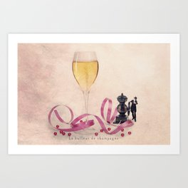 The Champagne bubbler Art Print