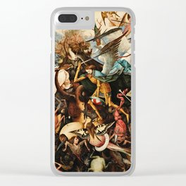 Pieter Bruegel The Elder - The Fall Of The Rebel Angels Clear iPhone Case