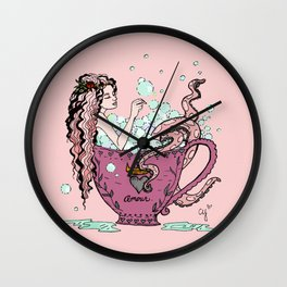 Teacup Amour Wall Clock