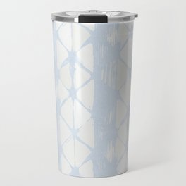 Simply Braided Chevron Sky Blue on Lunar Gray Travel Mug