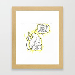 Boom Box Bear  Framed Art Print