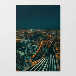 East London from above Canvas Print