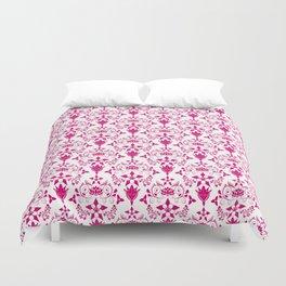 Floral Damask in Magenta D5006B Duvet Cover