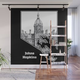 Johns Hopkins Hospital Etching Wall Mural