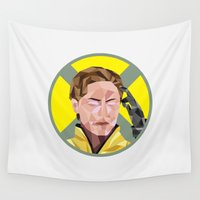 x men Wall Tapestries featuring 1 Charles Xavier X-men by Alice Wieckowska