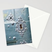Old lock Stationery Cards