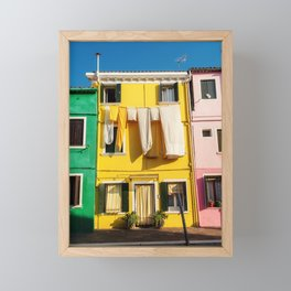 Beautiful Burano Italy Framed Mini Art Print