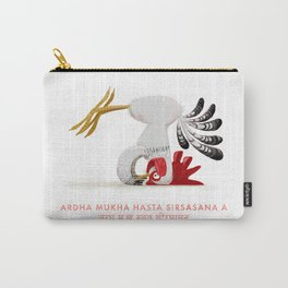 Ardha Mukha Hasta Sirsasana Chicken Yoga Carry-All Pouch