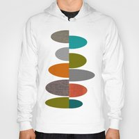 mid century Hoodies featuring Mid-Century Modern Abstract Ovals by Kippygirl