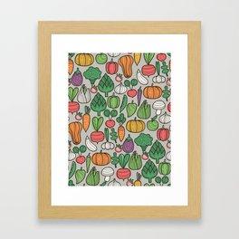 Farm veggies Framed Art Print