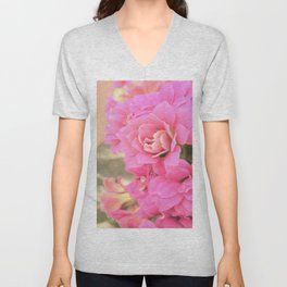 peach colored flower Unisex V-Neck