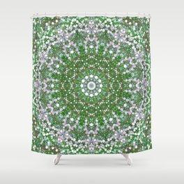 Her Mermaid Sea Kaleido Green Shower Curtain