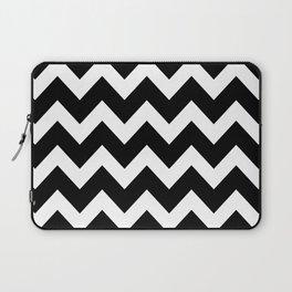Chevron Black & White Laptop Sleeve
