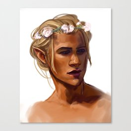 Flower Crown Zevran Canvas Print