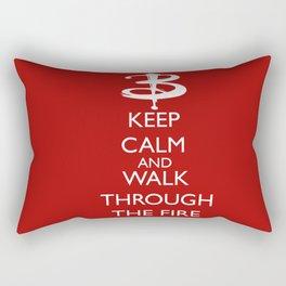 Walk through the fire Rectangular Pillow