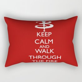 Walk through the fire Rectangular Pillow