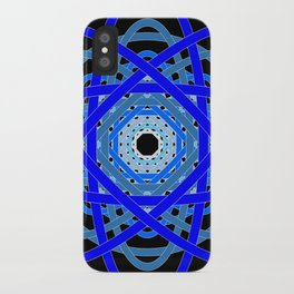 Not Quite Tangled Inside Out (Black Light Version) iPhone Case