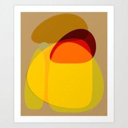 Orange, Yellow and Green Art Print