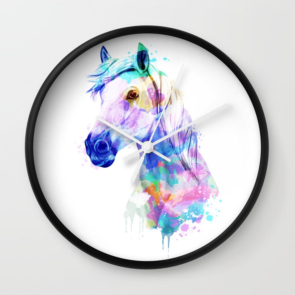 Horse Watercolor Horse Print Watercolor Print Watercolor Animal Horse Painting Horse Gift Print Wall Clock
