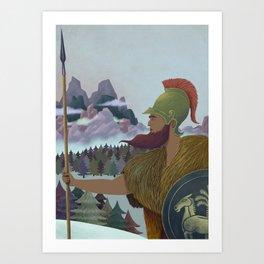 Hannibal crossing the Alps Art Print