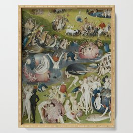 Hieronymus Bosch - The Garden of Earthly Delights - Medieval Oil Painting Serving Tray