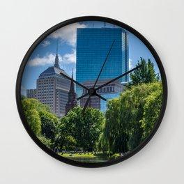 Spring Sunday in Boston Wall Clock