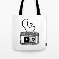 cassette Tote Bags featuring Cassette by Virki
