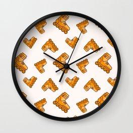 Roller skates sport pattern Wall Clock