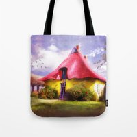 once upon a  time Tote Bags featuring Once upon a time by INA FineArt