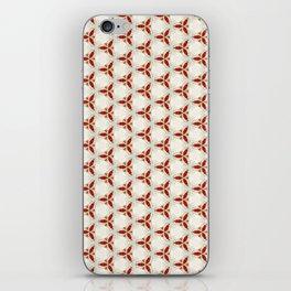 Three red pattern iPhone Skin