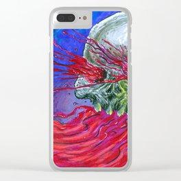 Galaxy Blood Skull Art Clear iPhone Case