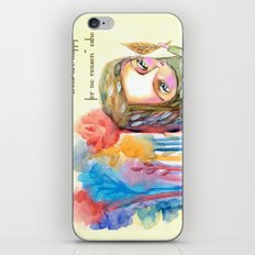 Trees are happy for no reason Osho quote inspirational words iPhone & iPod Skin