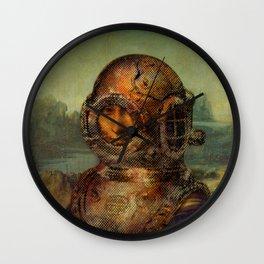 Steampunk Mona Lisa - Leonardo da Vinci Wall Clock