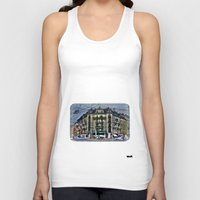 switzerland Tank Tops featuring Geneva -  Switzerland by Vehen§Nes