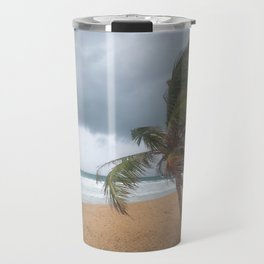 Windswept Palm tree Travel Mug