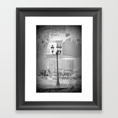 Outdoor Vacant dining Framed Art Print