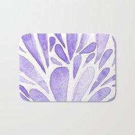 Watercolor artistic drops - lilac Bath Mat