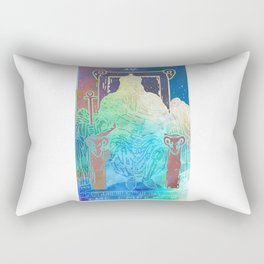 The Emperor - A Soft Watercolor Tarot Print Rectangular Pillow
